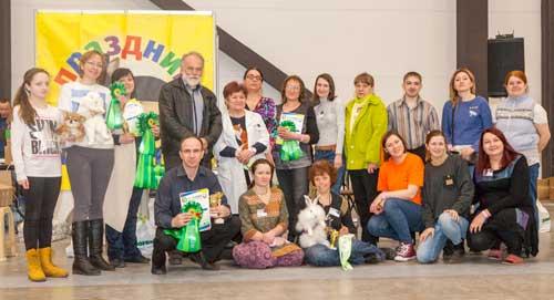 "Участники выставки ""Парад грызунов"" на ""Зоошоу"" 8 апреля 2018 г."