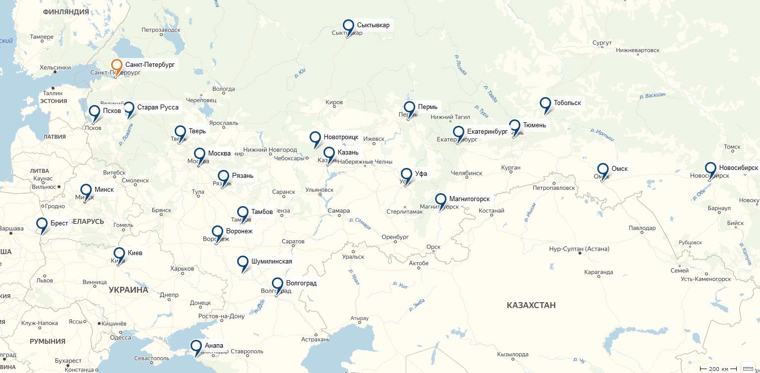 карта распространения моих кроликов